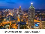 Skyline Of Downtown Atlanta ...