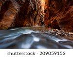 the narrows trail  zion... | Shutterstock . vector #209059153