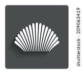 sea shell sign icon. conch... | Shutterstock . vector #209063419