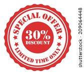 special offer 30 percent... | Shutterstock . vector #209064448