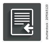 import file icon. file document ...