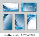 vector set of business cards or ... | Shutterstock .eps vector #209068960