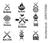 barbecue icons | Shutterstock .eps vector #209070580