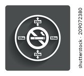 no smoking 10m distance sign...