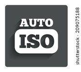 iso auto photo camera sign icon....
