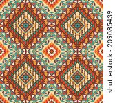 seamless colorful navajo pattern | Shutterstock .eps vector #209085439