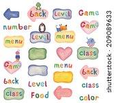 set web buttons   Shutterstock . vector #209089633