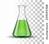 chemical laboratory transparent ... | Shutterstock .eps vector #209095588