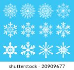 snowflakes   symbol designs for ... | Shutterstock . vector #20909677