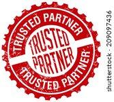 trusted partner stamp | Shutterstock .eps vector #209097436