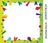 vector illustration of bright... | Shutterstock .eps vector #209097814