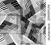 black and white geometric... | Shutterstock .eps vector #209099194