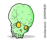 cartoon spooky skull | Shutterstock . vector #209099839
