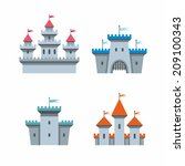 castle icons | Shutterstock .eps vector #209100343