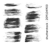 hand drawn long black uneven... | Shutterstock .eps vector #209104903