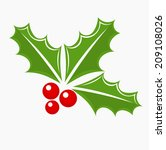 christmas holly berry symbol.... | Shutterstock .eps vector #209108026