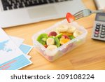 Plastic Container With Fruit...