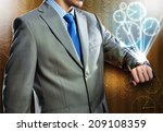 close up of businessman looking ... | Shutterstock . vector #209108359