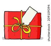 cartoon wrapped present | Shutterstock . vector #209109394