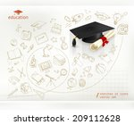 studying and education ... | Shutterstock .eps vector #209112628