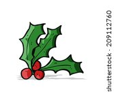 cartoon holly   Shutterstock . vector #209112760