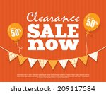 clearance sale poster | Shutterstock .eps vector #209117584