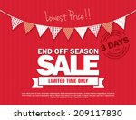 end off season sale | Shutterstock .eps vector #209117830