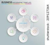 6 step process modern info... | Shutterstock .eps vector #209127364