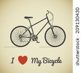 flat graphic city bicycle and... | Shutterstock .eps vector #209130430
