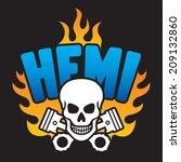 skull and pistons vector... | Shutterstock .eps vector #209132860