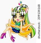 freak girl | Shutterstock . vector #209134168