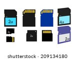 different types of sd card... | Shutterstock .eps vector #209134180