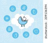 baby design over blue... | Shutterstock .eps vector #209136394