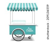 ice cream cart. vector. | Shutterstock .eps vector #209136559