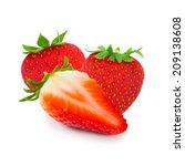 photo of strawberry with slice... | Shutterstock . vector #209138608