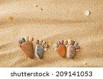 Happy Feet. Stone Arranged Like ...