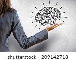 rear view of businesswoman... | Shutterstock . vector #209142718