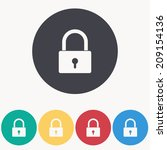 padlock icon   vector... | Shutterstock .eps vector #209154136