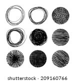hand drawn circle banners.... | Shutterstock .eps vector #209160766