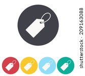 price tag icon   vector... | Shutterstock .eps vector #209163088