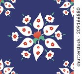antique ottoman turkish vector... | Shutterstock .eps vector #209166880