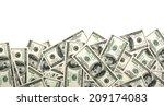 heap of dollars  money... | Shutterstock . vector #209174083
