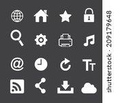web icon set | Shutterstock .eps vector #209179648