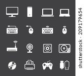 computer icon set | Shutterstock .eps vector #209179654