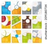 set of flyer  brochure or...   Shutterstock .eps vector #209180734