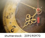 vintage grunge clock face with... | Shutterstock . vector #209190970