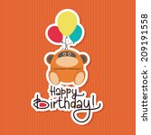 abstract happy birthday... | Shutterstock .eps vector #209191558