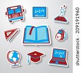school  education  sticker...