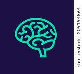 brain vector icon | Shutterstock .eps vector #209194864