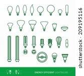 bulbs set | Shutterstock .eps vector #209195116